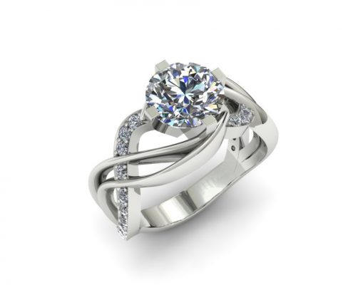 MODERN TWISTING ENGAGEMENT RING