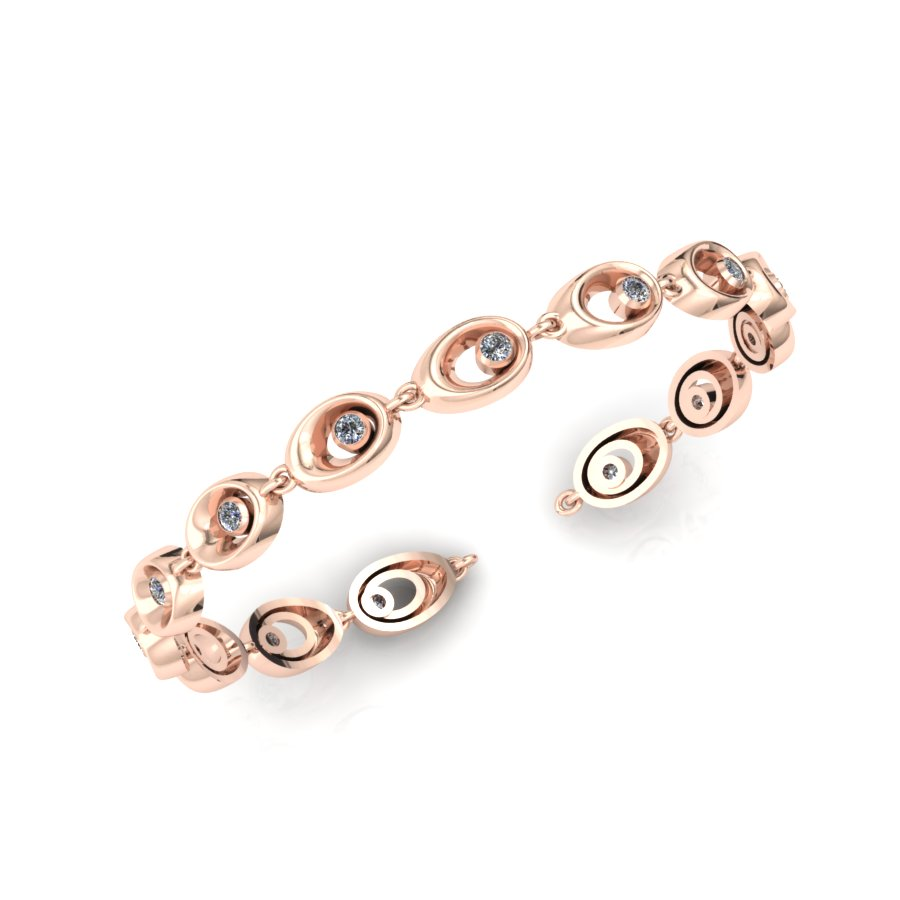 ROSE GOLD BEZEL SET DIAMOND BRACELET