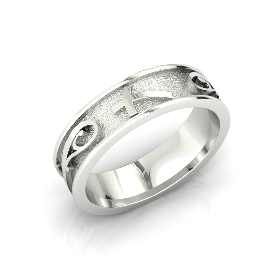 GENTS CROSS & SWIRL BAND