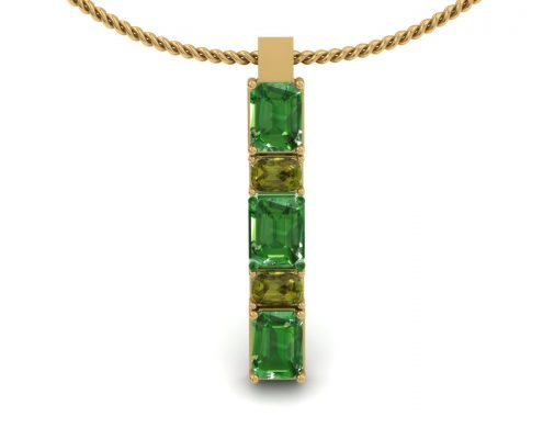 GREEN TOURMALINE CUSTOM PENDANT