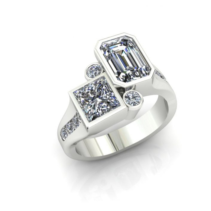 MODERN MULTI SHAPE DIAMOND FASHION RING