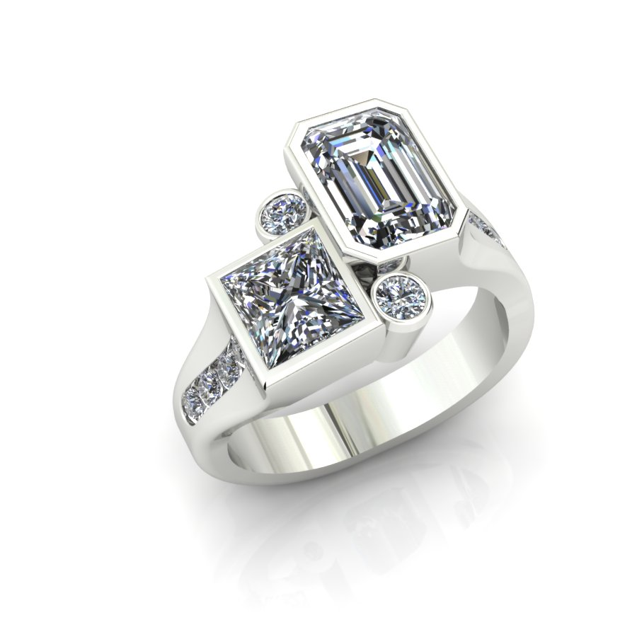 MODERN MULTI SHAPE DIAMOND FASHION RING