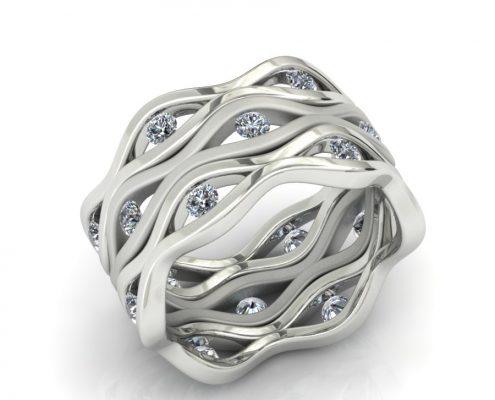 3 STACKING DIAMOND FASHION RINGS