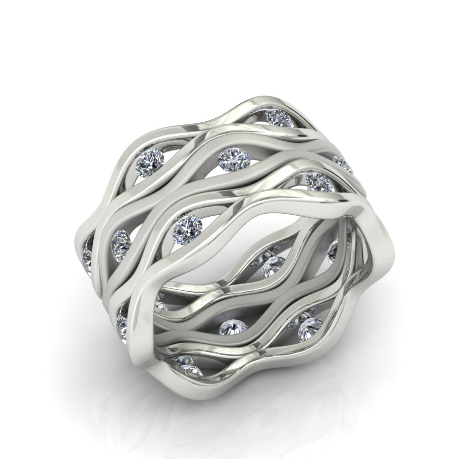 3 STACKING DIAMOND FASHION RINGS