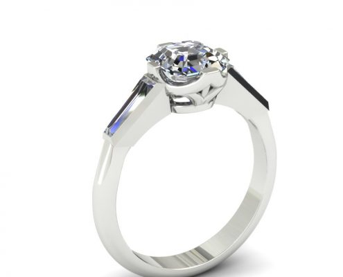ASSCHER CUT ANTIQUE INSPIRED ENGAGEMENT RING