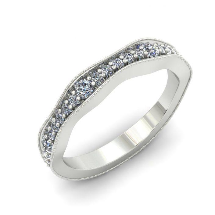MILGRAIN DIAMOND WEDDING BAND