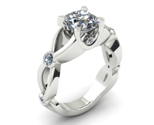TWISTING DIAMOND ENGAGEMENT RING