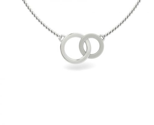 INTERLOCKING CIRCLE CUSTOM NECKLACE