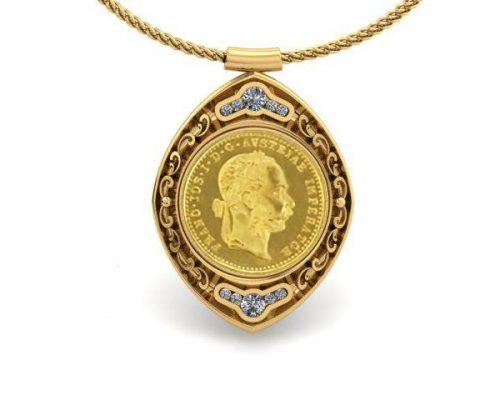 COIN HOLDER CUSTOM DIAMOND PENDANT
