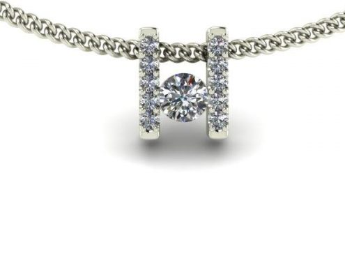 DIAMOND BAR SET CUSTOM NECKLACE