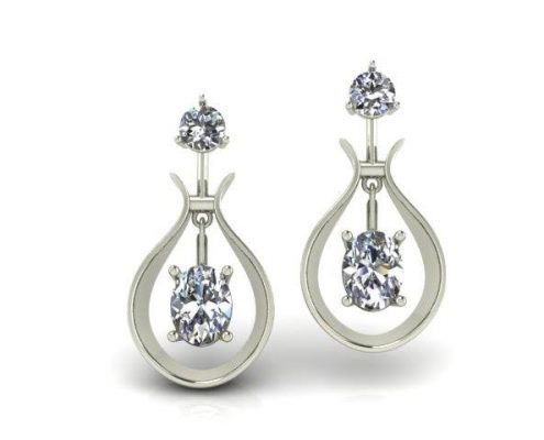 DIAMOND CUSTOM DANGLE EARRINGS