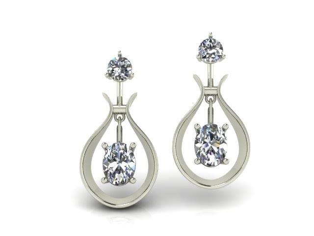 DIAMOND CUSTOM DANGLE EARRINGS