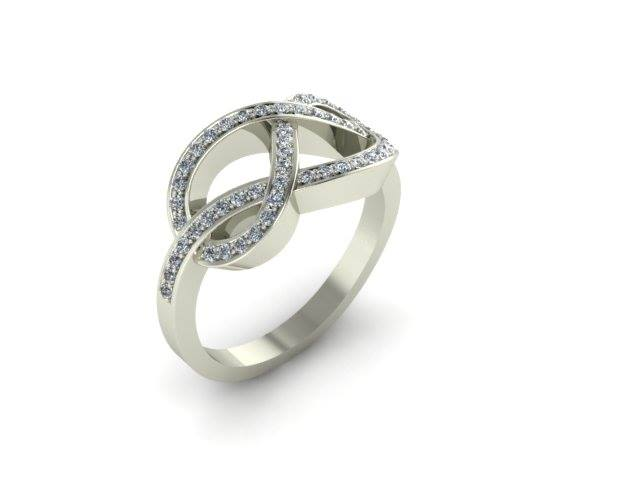 LOVE KNOT DIAMOND CUSTOM FASHION RING