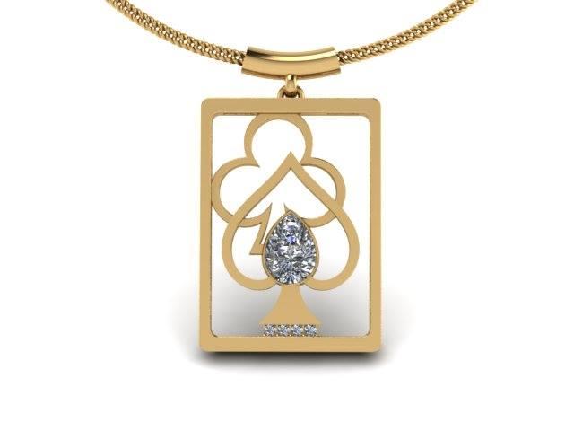 DIAMOND CARD CUSTOM NECKLACE