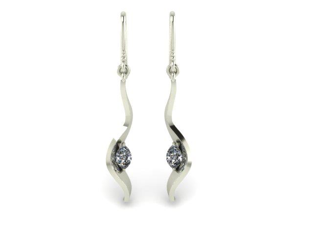 MARQUIS DIAMOND DANGLE CUSTOM EARRINGS