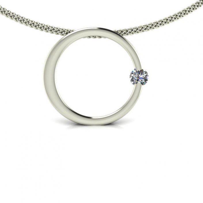 CIRCLE DIAMOND CUSTOM PENDANT