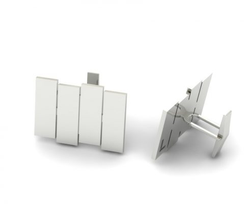 "STERLING SILVER ""BLACK FLAG"" INSPIRED CUSTOM CUFF LINKS"
