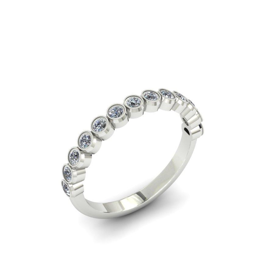 MILGRAIN BEZEL CUSTOM DIAMOND WEDDING BAND