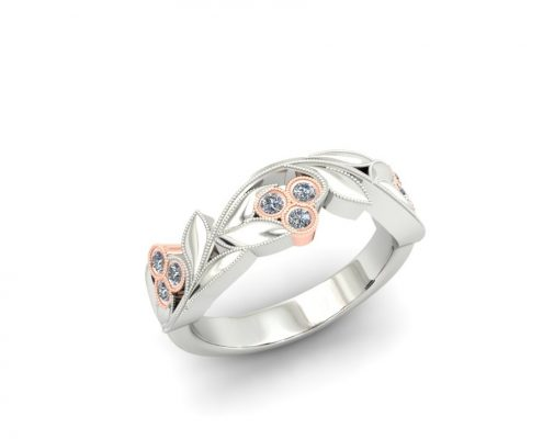 VINE AND FLORAL INSPIRED CUSTOM FASHION RING