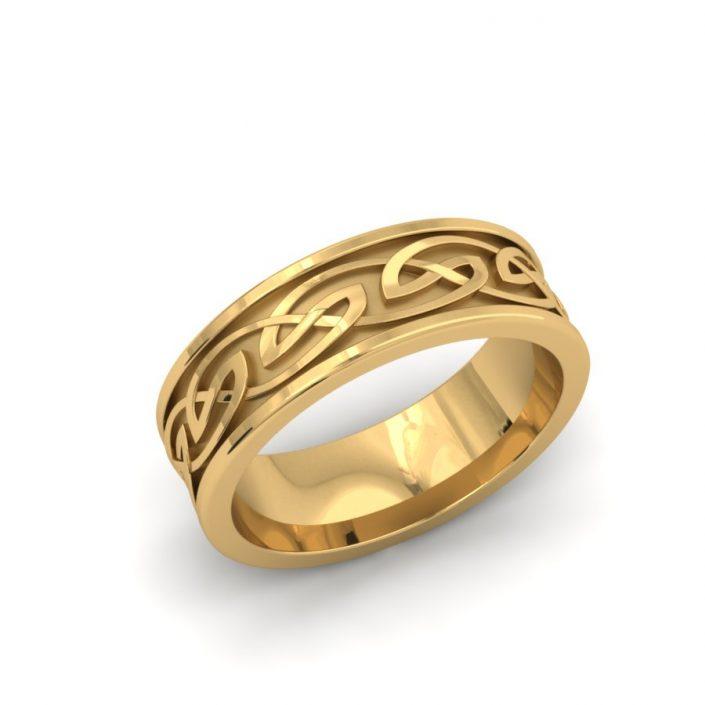 GENTS CELTIC YELLOW GOLD CUSTOM BAND
