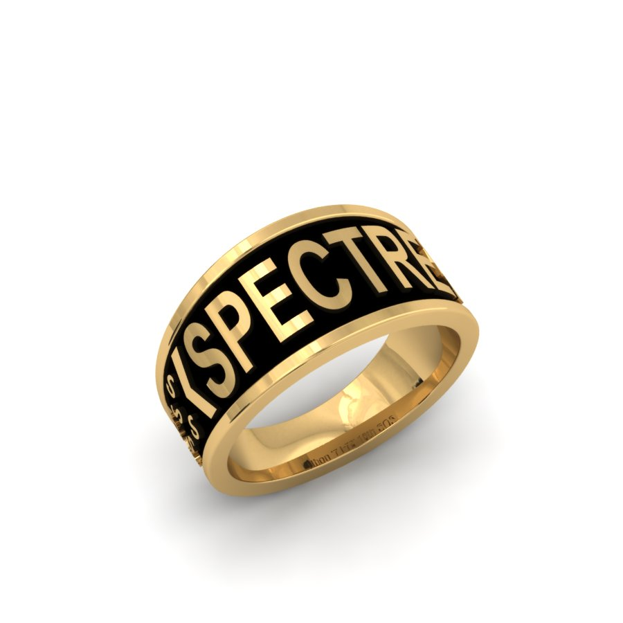 SPECTRE GENTS CUSTOM YELLOW GOLD BAND