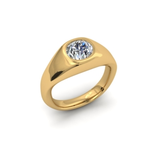 GYPSY SET MINE CUT CUSTOM ENGAGEMENT RING SOLITAIRE