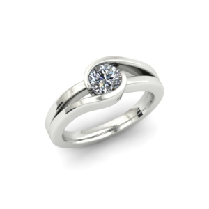 ALTERNATIVE SPLIT SHANK CUSTOM SOLITAIRE ENGAGEMENT RING