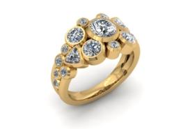 DIAMOND CLUSTER CUSTOM RING