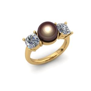 PEARL AND DIAMOND CUSTOM RING